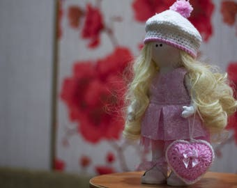 Handmade interior doll from Russia with love! Blonde 2018!