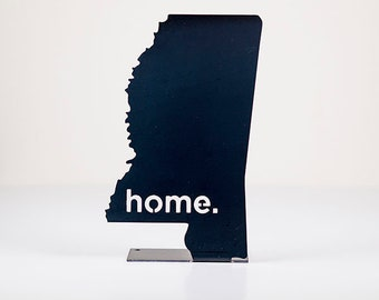 Mississippi Home State Steel Sign - Metal State Decor
