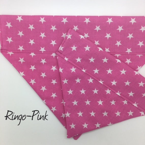 Dog Bandana, Ringo Pink, Stars Dog Bandana, Pink Dog Bandana, Cute Dog Bandana, Luxury Dog Bandana