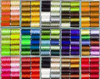 10% OFF Silk Thread, 75   Spools Wholesale Indian Silk Thread, Art Silk Thread, Hand And Machine Embroidery Thread