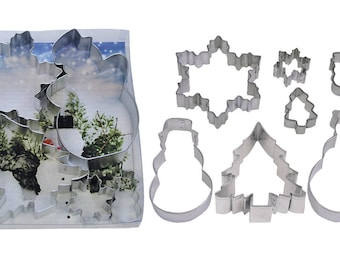 Snowman, Snowflakes, Christmas Trees Cookie Cutter Set - 1860