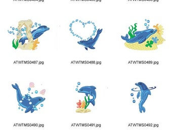 Timmy-The-Dolphin ( 10 Machine Embroidery Designs from ATW ) XYZ17B