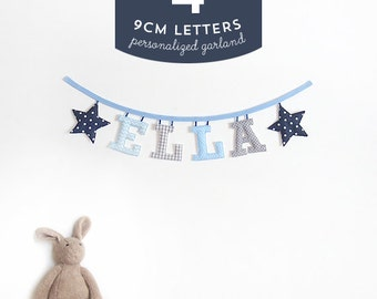 Customized Handmade Fabric Garlands - 4 Letter Name