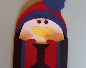 Penguin gift-card holder