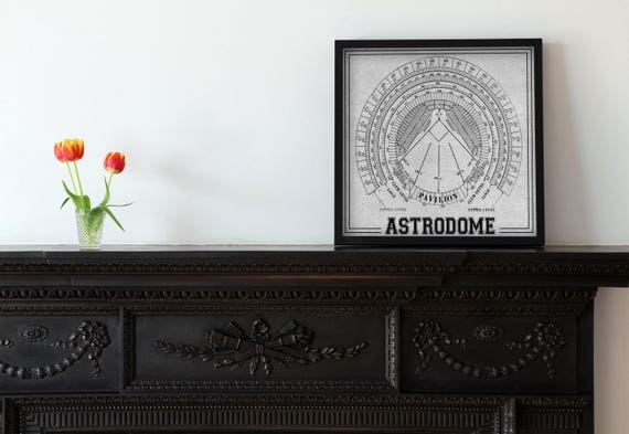 Print of vintage astrodome seating chart seating chart on print of vintage astrodome seating chart seating chart on photo paper matte paper or canvas malvernweather Choice Image