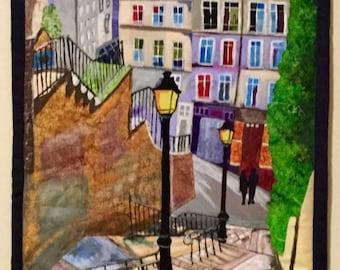 Paris Stairway - Wall Quilt