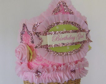 Birthday part  Crown, birthday party Hat pink Birthday hat, girls birthday hat, customize