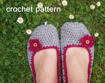 Adult Slippers Crochet Pattern PDF,Easy, Great for Beginners, Shoes Crochet Pattern Slippers,  Pattern No. 18