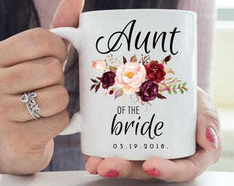 Aunt of the Bride Mug, Aunt Wedding Gift, Aunt Mug, Wedding Mug, Custom Mug, Wedding Gift for Aunt, Aunt of the Groom, Favorite Aunt Gift