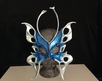 Butterfly Mask 3-4 oz, Butterfly Masquerade Mask Festival Mask Halloween Mask Blue Mask Leather Mask Fairy Mask Mardi Gras Renaissance Faire