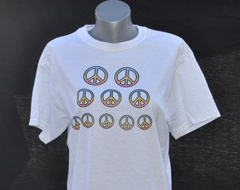 UV Sun Activated T Shirt - Peace Signs
