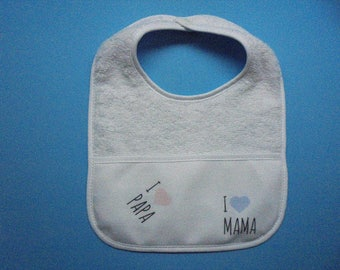 baby bibs set of 2   100 % cotton soft and super absorbent