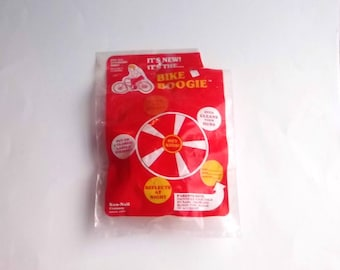 1970's Bike Boogie Bicycle Wheel Spinners with Reflectors Set of 2 Sealed!
