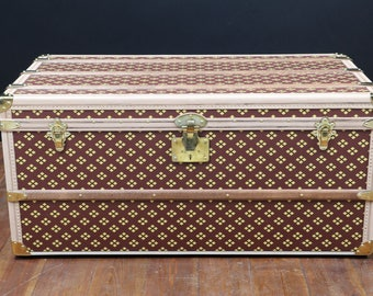 "Steamer trunk  monogram   from  "" Aux  Etats-Unis"""