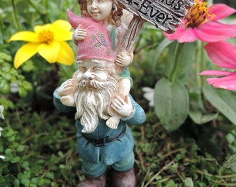 "Ellie and Digby (3.50"") with Metal Pick for the Fairy Garden"