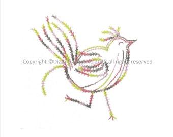 Embroidery in 2 Stitch Steps - Flirty Flora