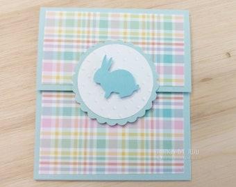 Easter Gift Card Easter Pastel Baby Shower Bunny Baby Shower Woodland Baby Shower  Money Holder With Envelope Baby Shower Gift Easter Card