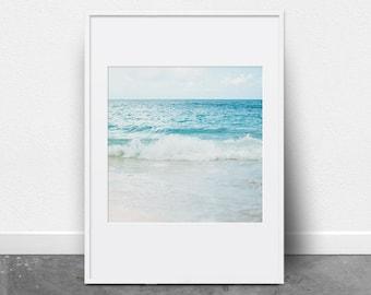 Beach Photography, Ocean Print, Downloadable Art Print, Photography Print, Ocean Art, Beach Decor, Ocean Waves, Coastal Decor, Summer