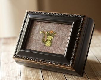 Black Rectangular Needlework Box cross stitch jewelry box counted cross stitch Mother's Day