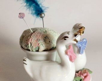 Goose and Gander Pin cushion, item # cpc01
