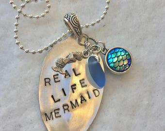 Mermaid  Spoon Necklace