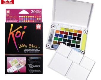 Brand New Sakura Koi Watercolour 12 Colors Field Sketch Box | Artist Travel Kit | XNCW-30N