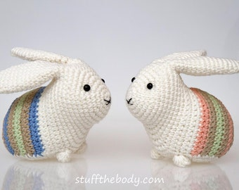 Easter Bunny Amigurumi Pattern, Easter Crochet Pattern, rabbit crochet, home decor, easter decoration pattern crochet art, easy crochet,