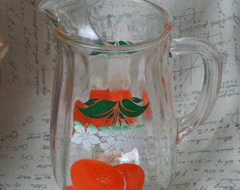 Vintage Mid Century 1950s Orange Juice Pitcher by Bartlett Collins