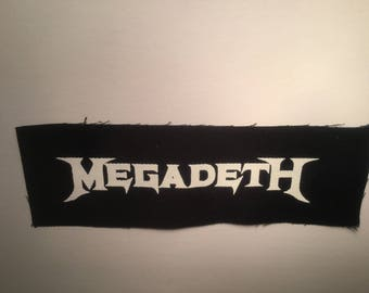 Megadeth hand printed patch