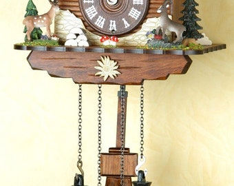 Cuckoo Clock Black Forest House / Forest Animals-Black Forest house and Forest Animals