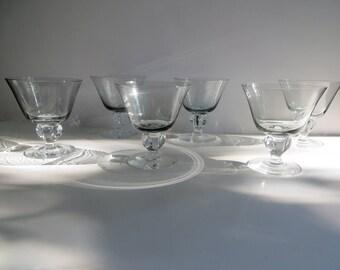 Brodegaard Sweden Kristine Smoky Sherbet Glasses Set of 6