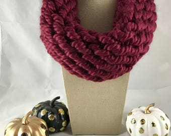 Cowl Scarf - Chunky Cowl - Knitted Cowl - Knitted Scarf - Gift for Her