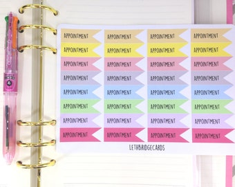 Pastel appointment planner stickers; Filofaxing; Erin Condren; Cute Stickers; Kawaii Stickers; Flag stickers; Doctor Stickers; Dentist