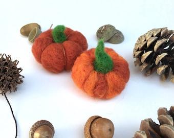 Felted Pumpkins,Thanksgiving,Wool Pumpkins,Pumpkins Mini,Gift,Handmade Pumpkins,Orange Pumpkins,Magical Pumpkins,Small pumpkins,Halloween