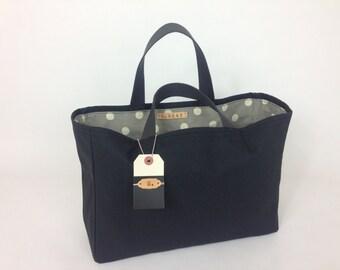 Stephanie Canvas Market Tote, Shopping Bag, Canvas Bag, Baby Bag, Tote, Bag, Travel Bag