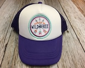 "Girls Toddler or Youth Purple Trucker Hat with ""Al..."