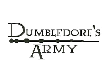 Buy 2 Get 1 Free-Dumbledore's Army Cross Stitch pattern-PDF pattern-Harry Potter-INSTANT Download-spell-J K Rowling-magic-P-95