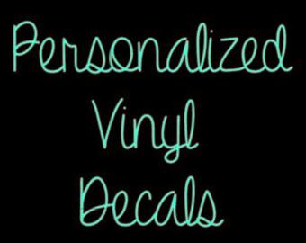 Personalized Vinyl Decals