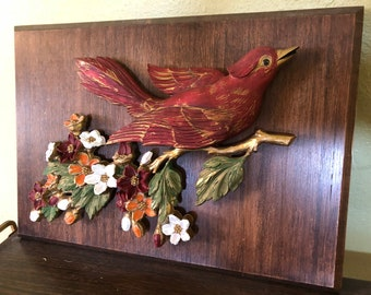 Retro Bird Wall Hanging