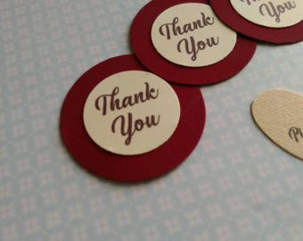 20 Tag Adhesive Thank you velvet cardstock Wedding stickers Thank you thanks