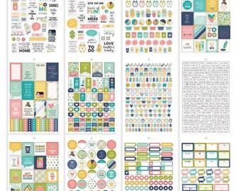 Carpe Diem - Simple Stories - Home Stickers A5