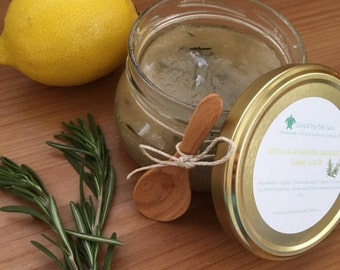 Lemon & Rosemary Gardeners Sugar Scrub