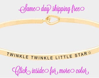 The inspired bangle (twinkle twinkle little star )