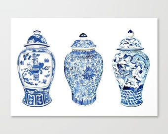 GINGER JAR TRIO on stretched canvas - 3 sizes
