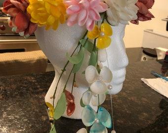 Seashells Halo or wreath for hair
