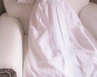 Baumwolle bestickt 9 Monate Taufe Kleid