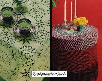 Crochet Table Cloths, Crochet Pattern. PDF Instant Download.
