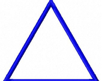 Triangle Applique Patch Embroidery Design - Instant Download