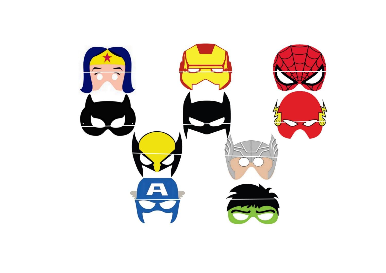 10 SUPER HEROS Masks Marvel and Dc\'s Universe Iron
