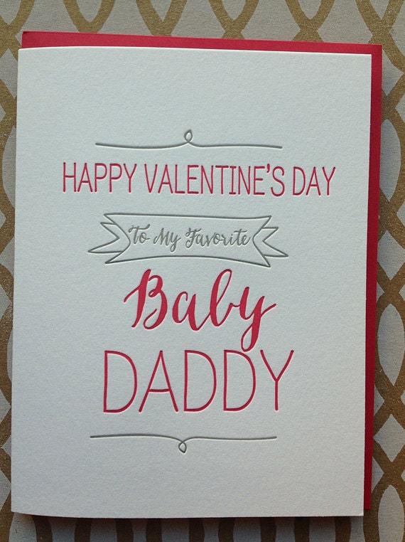 Funny Valentine's Day Card Baby Daddy Card Cute Funny